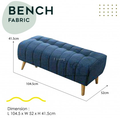 BENCH CHAIR / LIVING ROOM BENCH FABRIC WITH SOLID LEGS